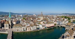 Aerial view of Zurich